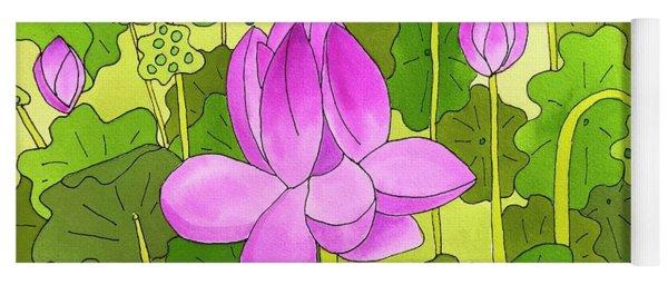 Lotus And Waterlilies Yoga Mat
