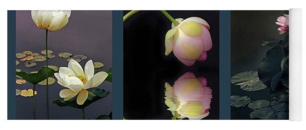 Lotus Blossom Triptych Yoga Mat