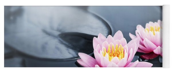 Lotus Blossoms Yoga Mat