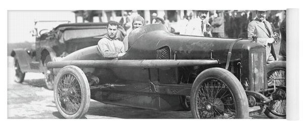 Louis Chevrolet At Indy Bw Yoga Mat