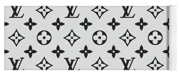 Louis Vuitton Pattern Lv 07 Grey Yoga Mat