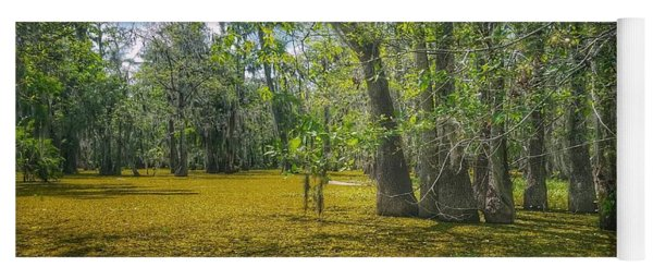 Louisiana Swamp In Gold Yoga Mat