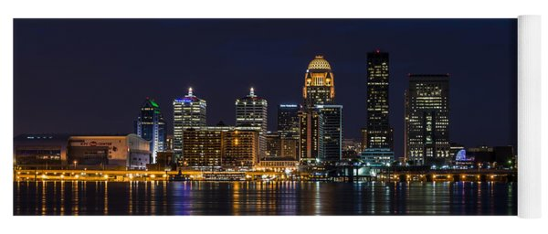 Yoga Mat featuring the photograph Louisville Skyline by Andrea Silies