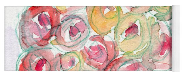 Love And Roses- Art By Linda Woods Yoga Mat