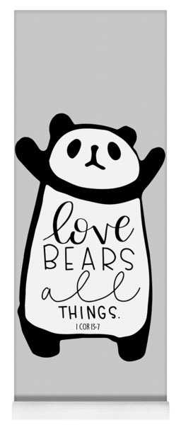 Love Bears All Things Yoga Mat