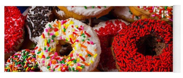 Love Donuts Yoga Mat