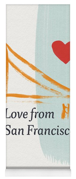 Love From San Francisco- Art By Linda Woods Yoga Mat