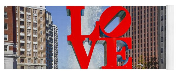 Yoga Mat featuring the photograph Love In Philadelphia Pa by Bill Cannon