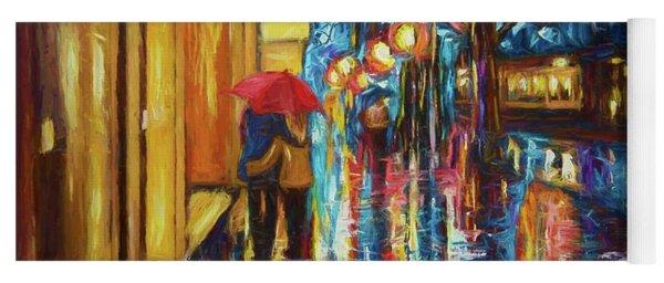 Love In The Rain Yoga Mat