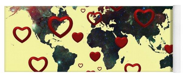 Love World Map 2 Yoga Mat