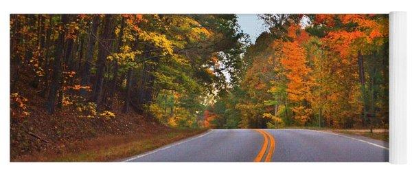 Lovely Autumn Trees Yoga Mat