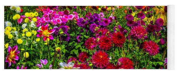 Lovely Dahlia Garden Yoga Mat