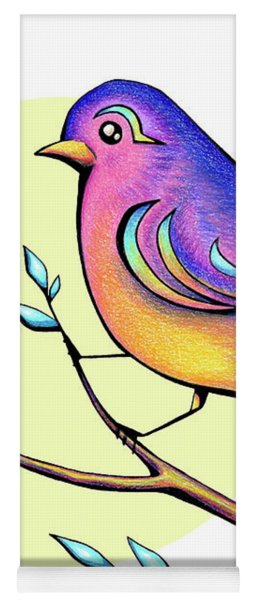 Lovely Spring Day Bird And Flowers Yoga Mat