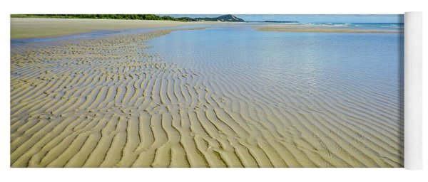 Low Tide Beach Ripples Yoga Mat