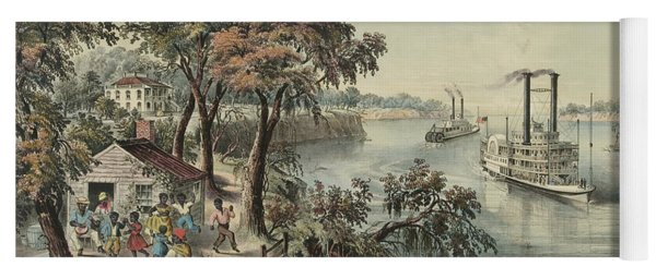 Low Water In The Mississippi, 1868  Yoga Mat