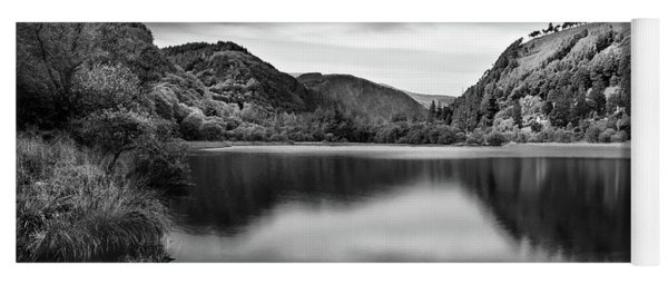 Yoga Mat featuring the photograph Lower Lake At Glendalough, County Wicklow - Ireland by Barry O Carroll