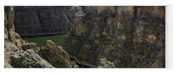 Yoga Mat featuring the photograph Lower Layout Creek, Bighorn Canyon by Gary Beeler