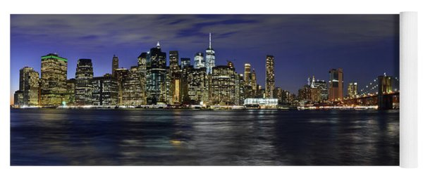 Lower Manhattan From Brooklyn Heights At Dusk - New York City Yoga Mat