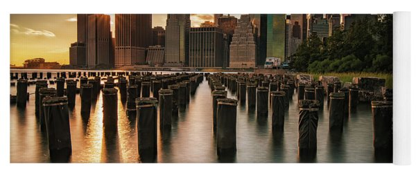 Lower Manhattan Sunset Twinkle Yoga Mat