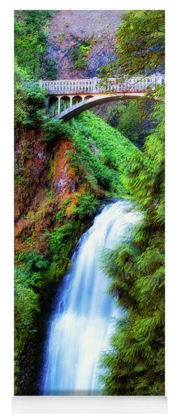Lower Multnomah Waterfall In The Columbia River Gorge Yoga Mat