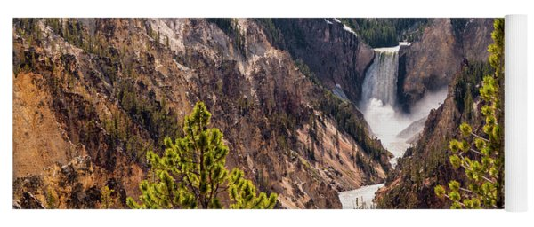 Lower Yellowstone Canyon Falls 5 - Yellowstone National Park Wyoming Yoga Mat