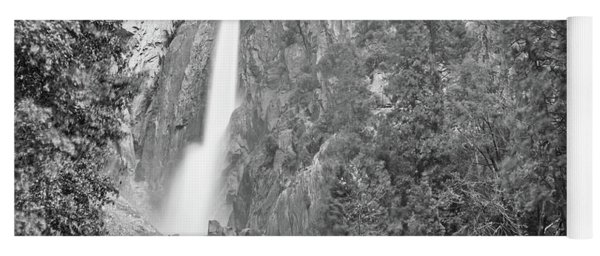 Lower Yosemite Falls In Black And White By Michael Tidwell Yoga Mat