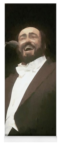 Luciano Pavarotti Painting  Yoga Mat