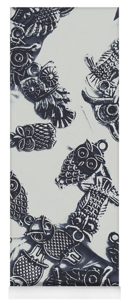 Lucky Charms Of Wise Old Owls Yoga Mat