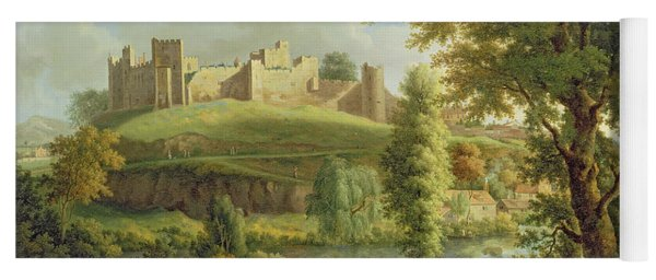Ludlow Castle With Dinham Weir Yoga Mat