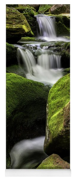 Luminous Triple Falls - Tunxis State Forest   Yoga Mat