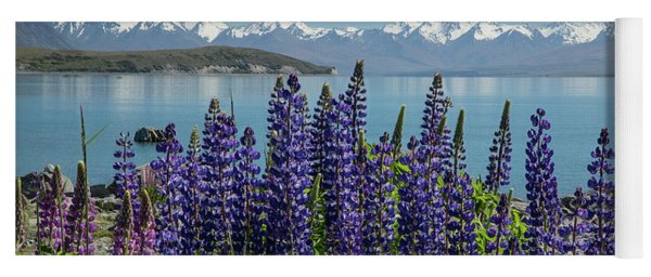 Lupines At Lake Tekapo Yoga Mat