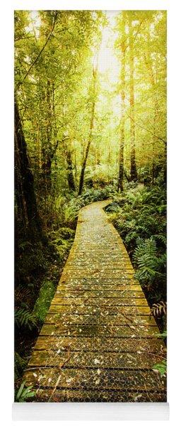 Lush Green Rainforest Walk Yoga Mat