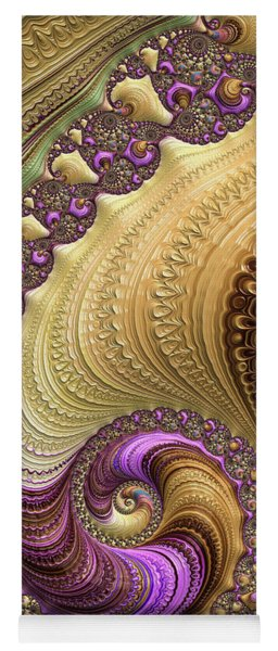 Luxe Colorful Fractal Spiral Yoga Mat