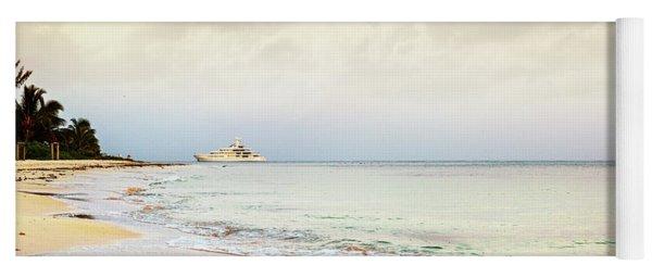 Luxury Yacht On Caribbean Sea Yoga Mat