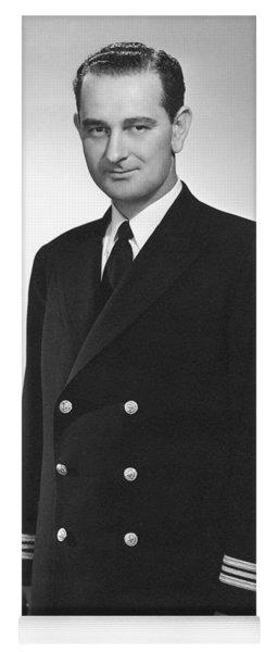 Lyndon Johnson - Naval Uniform - Ww2 Yoga Mat