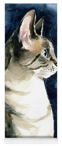 Lynx Point Cat Portrait Yoga Mat
