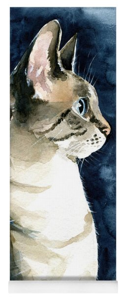Lynx Point Cat Portrait Yoga Mat