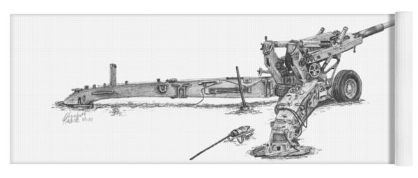 M198 Howitzer - Natural Sized Prints Yoga Mat