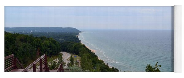 M22 Scenic Lake Michigan Overlook  Yoga Mat