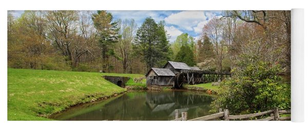 Mabry Mill In The Spring Yoga Mat