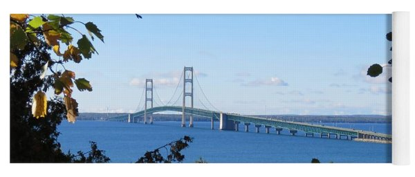 Mackinac Bridge In Early Fall Yoga Mat