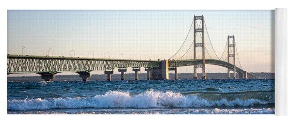 Mackinac Bridge Michigan Yoga Mat