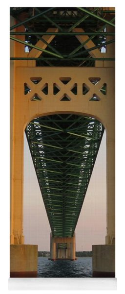 Mackinac Bridge Tower At Sunset Yoga Mat
