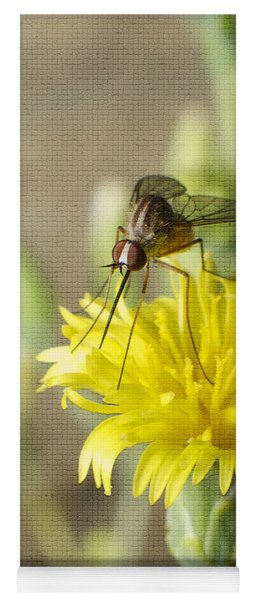 Macro Photography Of A Mosquito Over A Lettuce Flower Yoga Mat