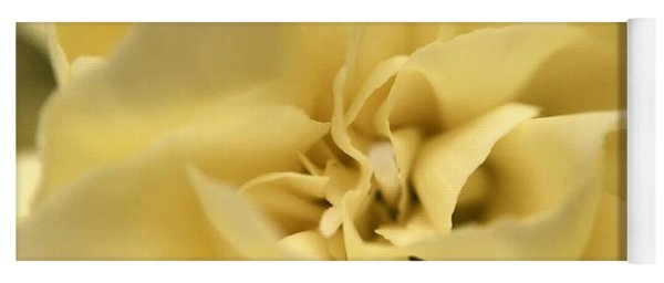 Macro Yellow Rose Yoga Mat