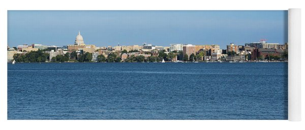 Madison Skyline From Picnic Point Yoga Mat