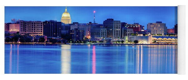 Madison Skyline Reflection Yoga Mat