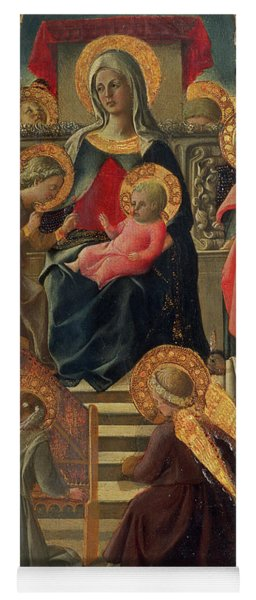 Madonna And Child Enthroned With Angels And Saints Yoga Mat