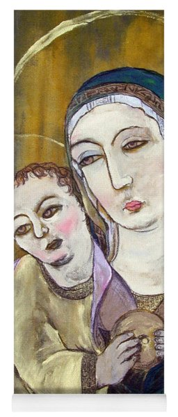 Madonna And Child Yoga Mat