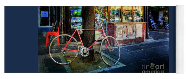 Magazine Stand Bicycle Yoga Mat